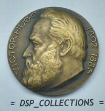 Médaille, Bronze 50 mm - VICTOR HOGO 1802 1885 signé Poisson / #58MD01