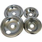 """Set of 4 Stove Top Reflector Bowls Range Drip Pans For GE Hotpoint 6"""" 8"""" Burners photo"""