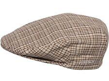 Stetson - NWT - Mens L (7 1/4 to 7 3/8) - Natural Beige Plaid Linen Ivy Cap Hat