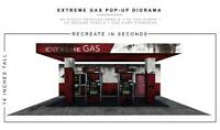 Extreme sets GAS STATION POP-UP DIORAMA S5 or 6 to 7 inch figures NEW!