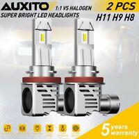 2x H8 H9 H11 LED Headlight Bulbs for Toyota Tacoma 16-19 Nissan GT-R 09-14 6000K
