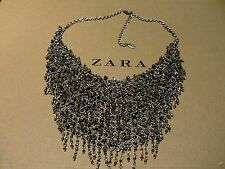 Zara Ethno mega statement Kette necklace boho top Blogger Wasserfall Steinchen