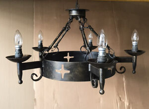 Wrought Iron Medieval Style Chandelier Working