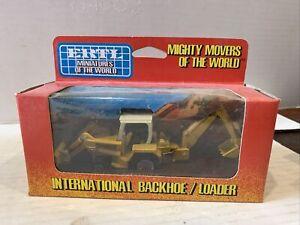 NEW ERTL Mighty Movers Of The World International Harvestor Backhoe/Loader 1/64