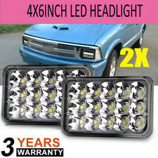 "2x 4x6"" Square LED Headlights with DRL For Chevrolet S10 1997 1996 1995 R10 1987"
