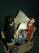 "Vintage Norman Rockwell Danbury Mint Figurines ""Breakfast Conversation"""
