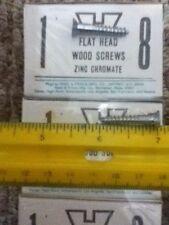 "Lot of 50 Slotted Flat Head Wood Screws  # 8 X 1"""