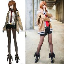 Steins Gate Makise Kurisu Dress Uniform Outfit Cosplay Costume