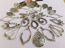 35 x Fab Alloy Silver Floral Filigree Teardrop & Earring Dangle Charms 20-30 mm*