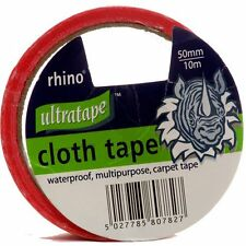 Ultratape RHINO Gaffer Duct Waterproof Multi Purpose RED Cloth Tape 50mm/10m