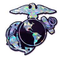 Marine Insignia Reflective Domed Auto Decal [NEW] NCAA Emblem Car Corps US USA