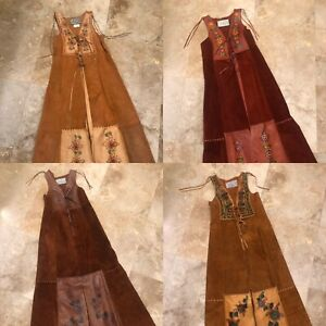 Vintage 70s Char Vest Jacket Duster Hand painted Patchwork Whipstitched Hippie