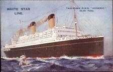White Star Line Steamship RMS HOMERIC c1920 Postcard #2