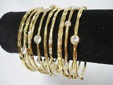 RJ Graziano 10 Bangle Bracelets Gold Tone Rhinestone Bracelet NIB