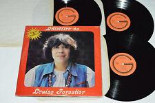 LOUISE FORESTIER L'histoire de 3-LP Gamma Records Canada G3-602 VG+/VG+/VG+/VG