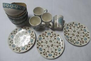 Rachael Ray 54008 11 Piece Replacement Dinnerware Set - Blue/Brown