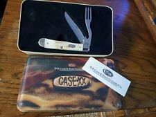 Rare Case XX 1999 #V5254 HBSS Deer Stag Clip Blade and Fork Hobo Knife NIB
