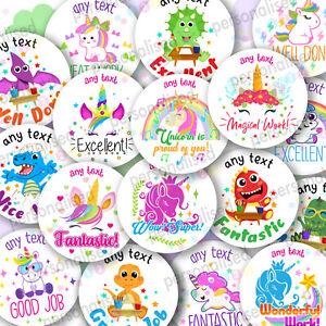 Personalised Reward Stickers Dinosaurs & Unicorns Girls And Boys School Teacher