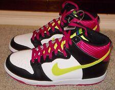 Size 10.5 Mens Nike Dunk High White/Volt-Black-Fireberry 317982 127 NICE SHOE SB