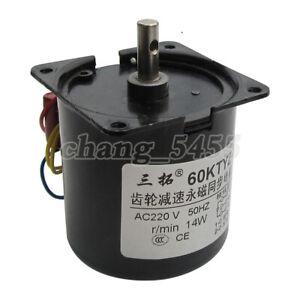 60KTYZ Synchronous Motor 2.5-110RPM 14W 220V AC Gear Motor Copper Coil CW/CCW