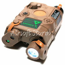 AEG Shooting Gear FMA BC-0004B PEQ-15 Green Dot Laser & LED Flashlight Tan