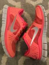 Nike Free Run 3 Womens Running Shoes US Size 8 Florecent Peach 510643-600 Nice!
