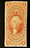 US REVENUE R71a LIFE INSURANCE IMPERF NICE STAMP