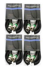 5m XLR Audiokabel symetrisches Mikrofonkabel XLR Kabel auch für DMX 4 Stück XLR