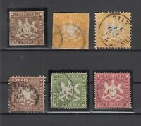 X2335/ GERMANY – WURTEMBERG – 1857 / 1864 USED CLASSIC LOT – CV 595 $