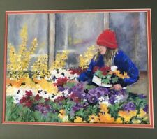 Jill Atkins Art Pastel Painting Oregon The Gardener Gardening Flowers Garden