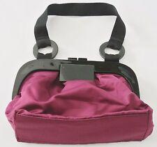 Red NINE WEST Small Nylon Clutch Handbag, 10 x 7 x 3 in