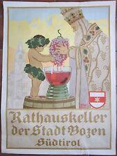 1920 RATHAUSKELLER DER STADT BOZEN SÜDTIROL Cantina Munic.e Bolzano Stolz vino