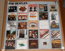 Beatles Album Covers Discography Huge Poster Original 1982 Promo 36x35