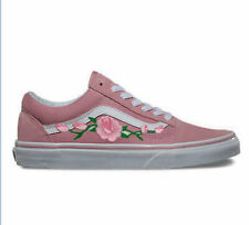Vans Old Skool Classic Shoe Zephyr Suede Canvas Pink Custom Rose NEW Womens 8