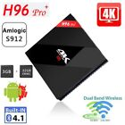 H96 Pro+ Multimédia Smart TV Box 4K WiFi 3GB 32GB Android 7.1 Home Media Player