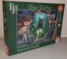 JIGSAW Schmidt MAGICAL CATS Lisa Parker 1000 Piece Puzzle Checked COMPLETE
