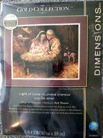 Dimensions Gold: Light Of Love Cross Stitch Kit  Nativity Scene Christmas NEW