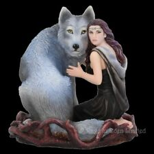 *SOUL BOND* Goth Wolf Maiden Art Resin Figurine By Anne Stokes