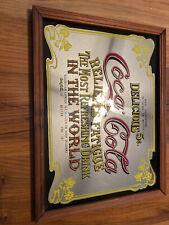 Vintage Coca Cola Mirrored Delcious Sign
