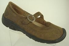 KEEN Mary Jane Brown Leather Walking SHOES Loafers Flats US 7 EU 37.5