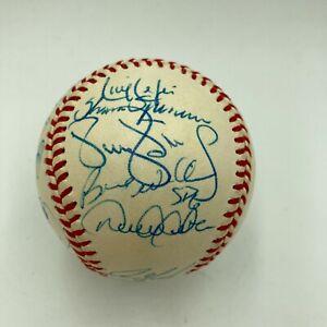 1999 New York Yankees World Series Champs Team Signed Baseball Derek Jeter JSA