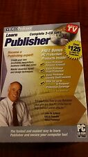 VIDEO PROFESSOR Learn Publisher 3-CD Set PC CD-Rom Software