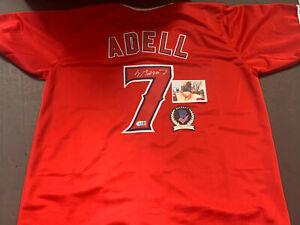 Jo Adell Angels Auto Signed Jersey Custom Beckett WITNESS COA Red