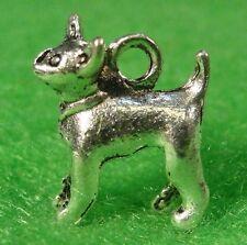 10Pcs. Tibetan Silver 3D Chihuahua DOG Charms Pendants Earring Drops D33
