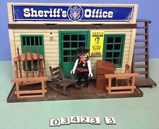 (O3423.3) playmobil Shériff office western ref 3423