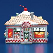 Dept 56 Snow Village ~ 56 Flavors Ice Cream Parlor ~ With Box Missing Stem 51519