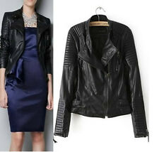 Petite Faux Leather Casual Coats & Jackets for Women