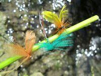Gilchrist Fliegen. 3 x  FANWING MAIFLIEGEN Gr.12. Auswahl von Farben