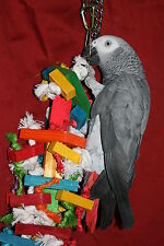 "Medium Parrot Toy(Blocks & Knots) Jk533. 4"" x 13"" Chewing - Climbi"