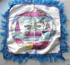 "Souvenir NORTH DAKOTA Pillowcase cover sham 8 attractions 17"" +fringe ND FREE SH"